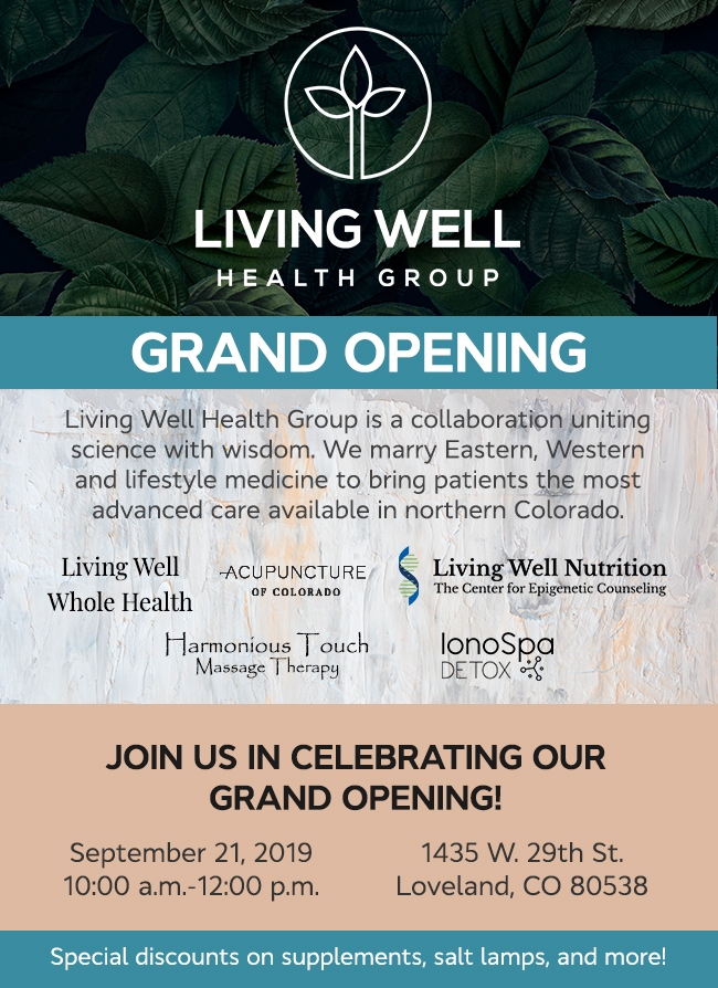 Living Well Health Group Grand Opening Celebration Invitation