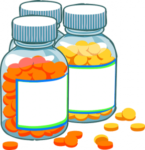 graphic image of bottles of pills