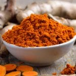 bowl of powdered tumeric