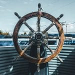 ships wheel: symboizing turning ship around