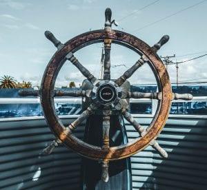 ships wheel: symboizing turning ship around